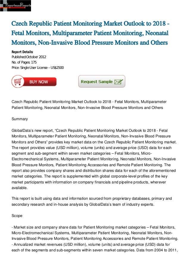 Czech Republic Patient Monitoring Market Outlook to 2018 -Fetal Monitors, Multiparameter Patient Monitoring, NeonatalMonit...
