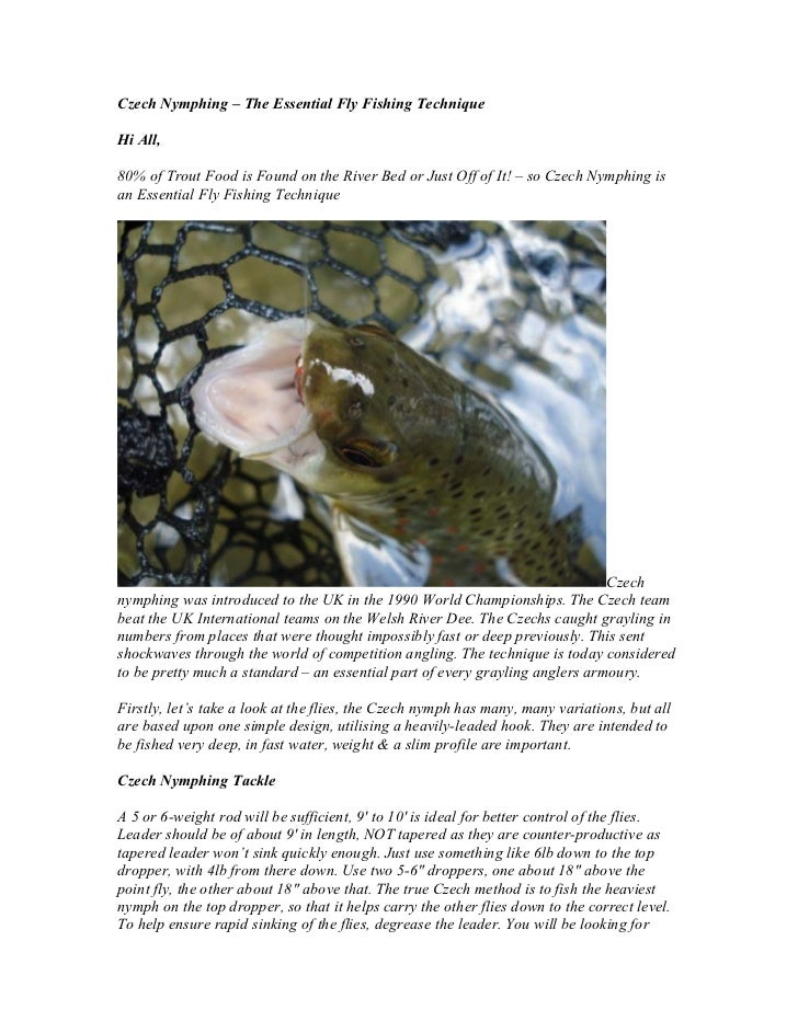 Czech Nymphing – The Essential Fly Fishing TechniqueHi All,80% of Trout Food is Found on the River Bed or Just Off of It! ...