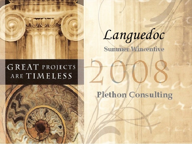 Summer Wincentive Plethon Consulting Languedoc