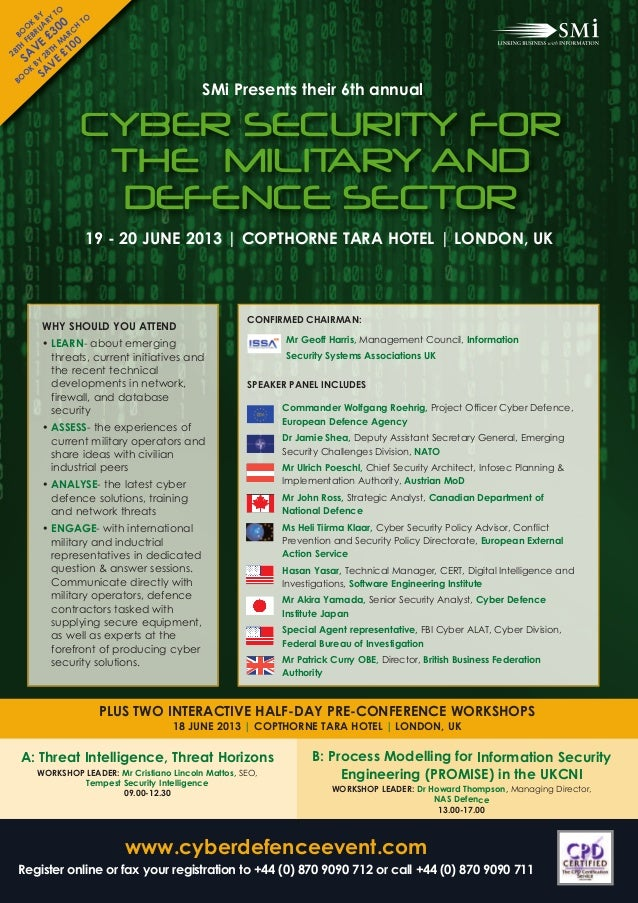 Cyber Security for the Military and Defence Sector 2013