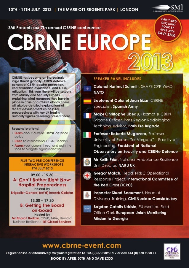 10th - 11th July 2013   thE MaRRiott REGENtS paRk   loNdoNCBRNE EuRopE                                                    ...
