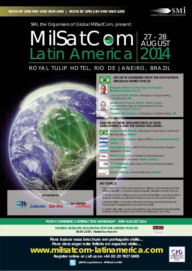 27 - 28 AUGUST 2014 R O YA L T U L I P H O T E L , R I O D E J A N E I R O , B R A Z I L Regina Cunha Parreira, Manager of...