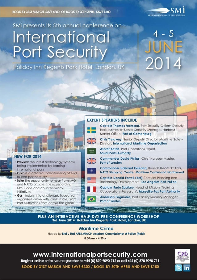 SMi Group's 5th annual conference on International Port Security