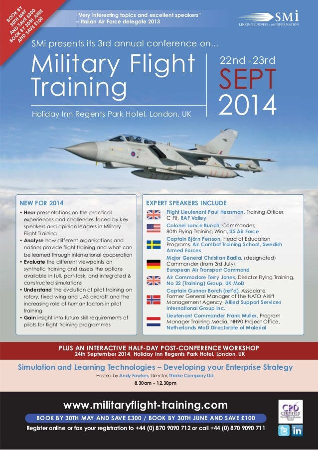 SMi Group's Military Flight Training 2014 conference