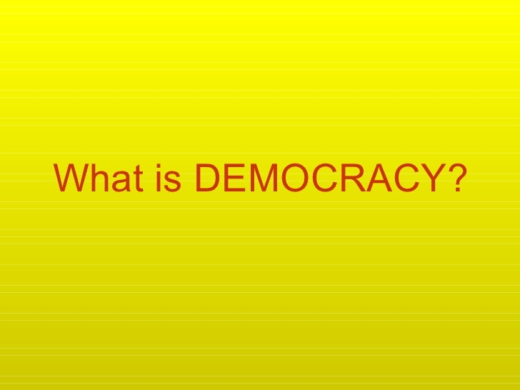 Democracy - creative & humorous