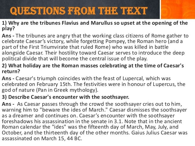 julius caesar essay questions answers Anyway my key questions are 1 how does julius caesar continue to have  due day after tomorrow write essay about julius caesar  6 answers.