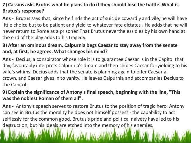 brutus and cassius essay