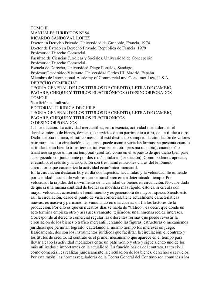 TOMO IIMANUALES JURIDICOS Nº 84RICARDO SANDOVAL LOPEZDoctor en Derecho Privado, Universidad de Grenoble, Francia, 1974Doct...