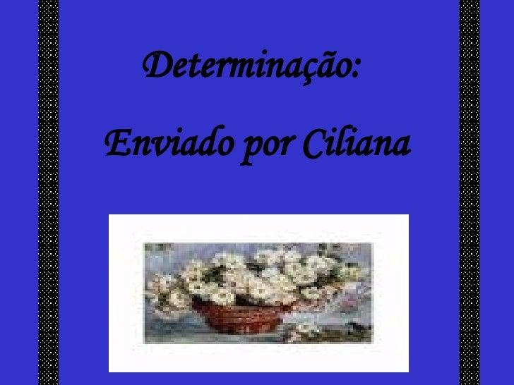 Determinação: Enviado por Ciliana