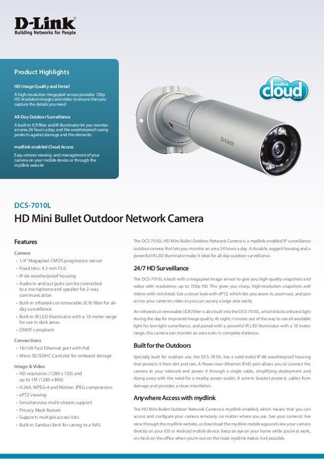 D link dcs-7010 l brochure