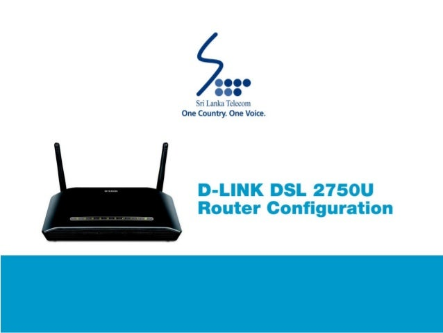 D-LINK DSL 2750 U Router Configuration Guide