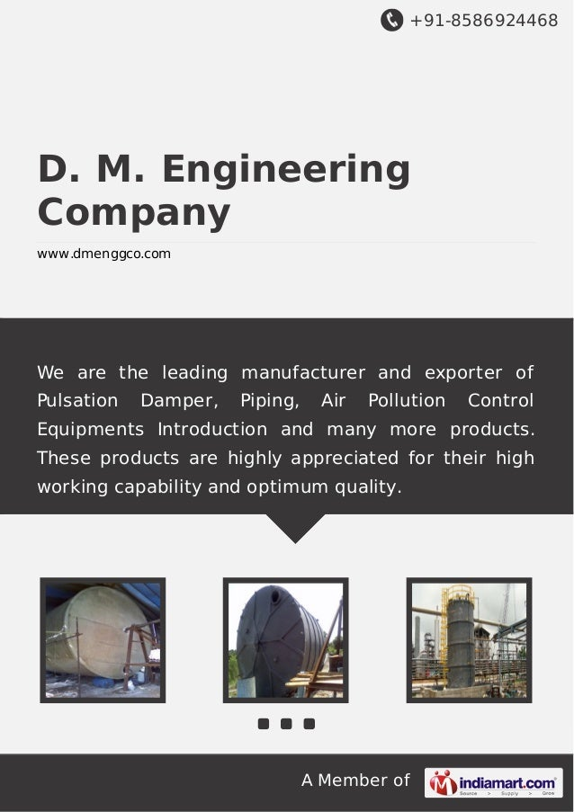 +91-8586924468 A Member of D. M. Engineering Company www.dmenggco.com We are the leading manufacturer and exporter of Puls...