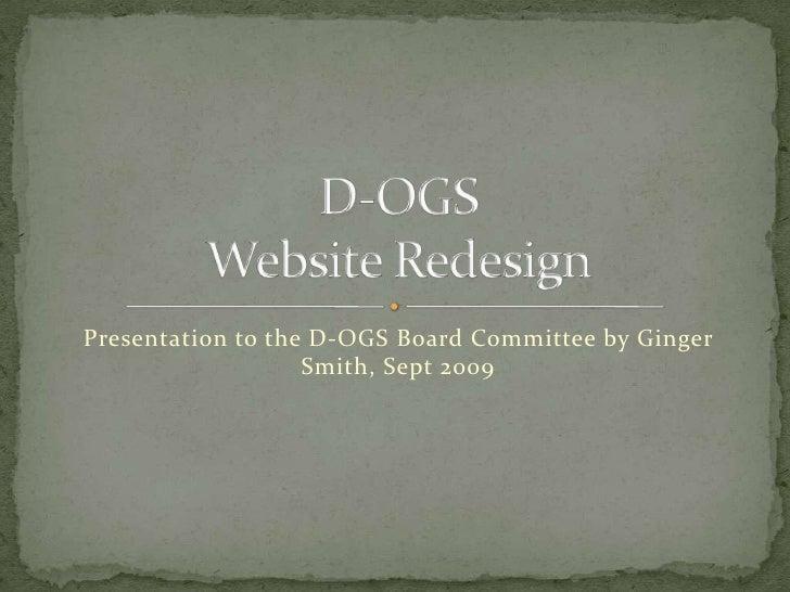 Durham-Orange Genealogical Society Website Redesign