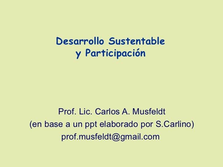 Desarrollo Sustentable y Participación