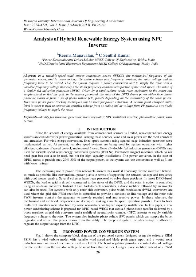 Research Inventy: International Journal Of Engineering And ScienceIssn: 2278-4721, Vol.2, Issue 7 (March 2013), Pp 26-30Ww...