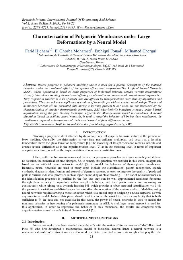 Research Inventy: International Journal Of Engineering And ScienceVol.2, Issue 8 (March 2013), Pp 18-22Issn(e): 2278-4721,...