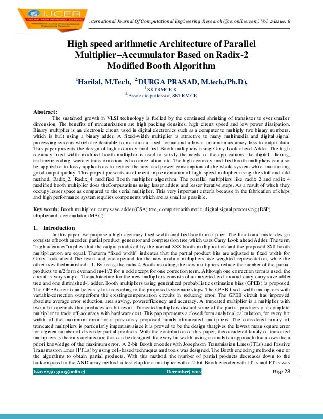 I nternational Journal Of Computational Engineering Research (ijceronline.com) Vol. 2 Issue. 8                High speed a...