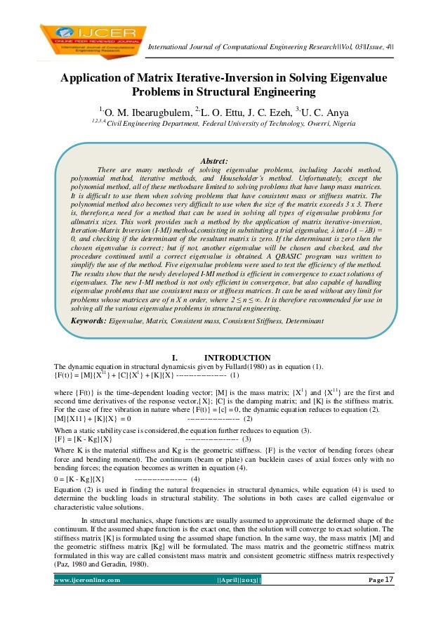 International Journal of Computational Engineering Research||Vol, 03||Issue, 4||www.ijceronline.com ||April||2013|| Page 1...