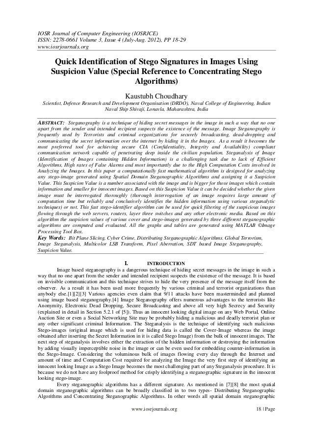 IOSR Journal of Computer Engineering (IOSRJCE) ISSN: 2278-0661 Volume 3, Issue 4 (July-Aug. 2012), PP 18-29 www.iosrjourna...