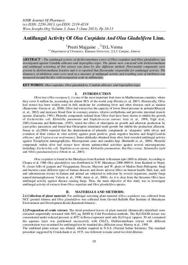 IOSR Journal Of Pharmacy (e)-ISSN: 2250-3013, (p)-ISSN: 2319-4219 Www.Iosrphr.Org Volume 3, Issue 5 (June 2013), Pp 10-13 ...