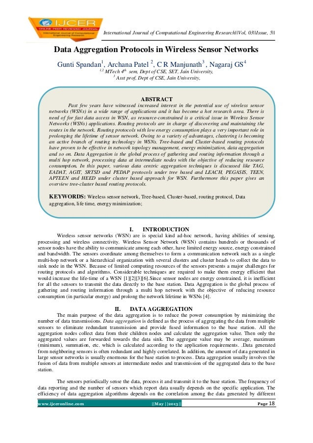 International Journal of Computational Engineering Research||Vol, 03||Issue, 5||www.ijceronline.com ||May ||2013|| Page 18...