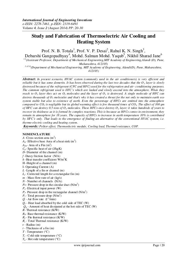 International Journal of Engineering Inventions e-ISSN: 2278-7461, p-ISSN: 2319-6491 Volume 4, Issue 2 (August 2014) PP: 2...