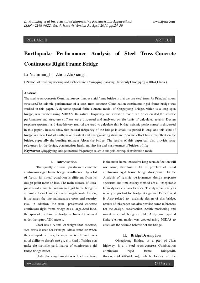 Li Yuanming et al Int. Journal of Engineering Research and Applications www.ijera.com ISSN : 2248-9622, Vol. 4, Issue 4( V...