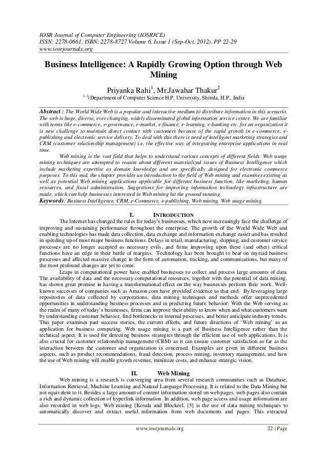 IOSR Journal of Computer Engineering (IOSRJCE) ISSN: 2278-0661, ISBN: 2278-8727 Volume 6, Issue 1 (Sep-Oct. 2012), PP 22-2...