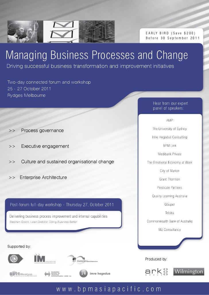 Managing Business Processes and Change