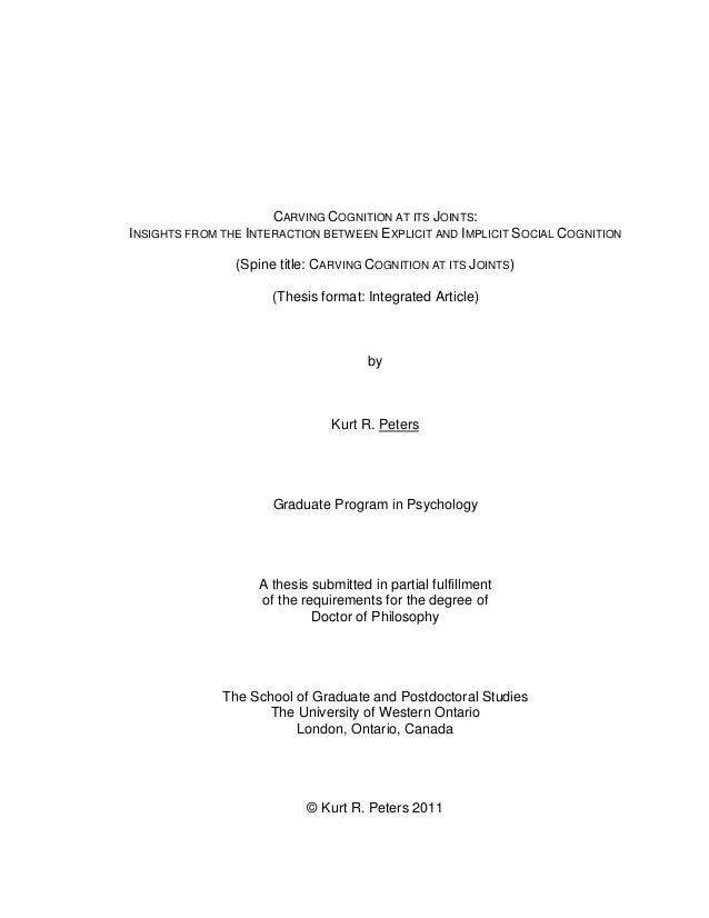 thesis requirements uwo