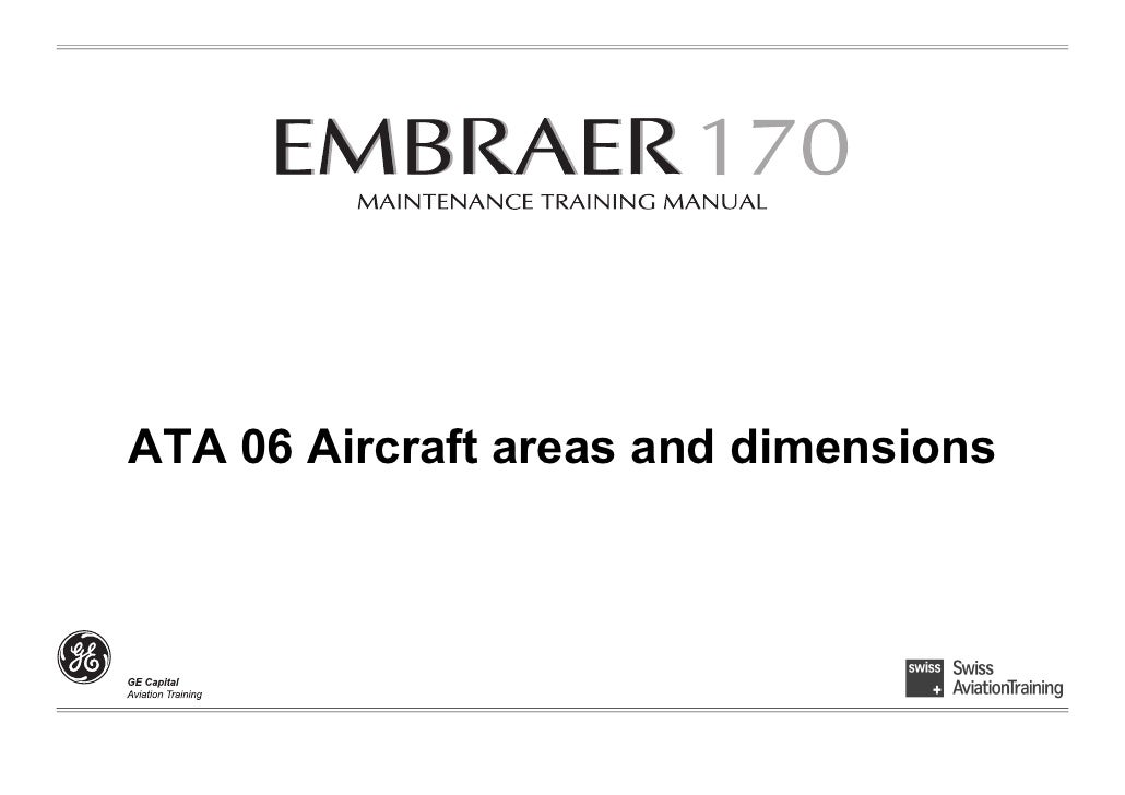 ATA 06 Aircraft areas and dimensions