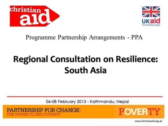 Climate Smart Disaster Risk    Management Approach    An OverviewPresented at the Christian Aid – Regional Consultation on...