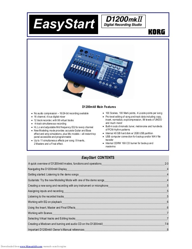 • No audio compression – 16/24-bit recording available• 16 channel, 4 bus digital mixer• 12 track recorder, with 96 virtua...