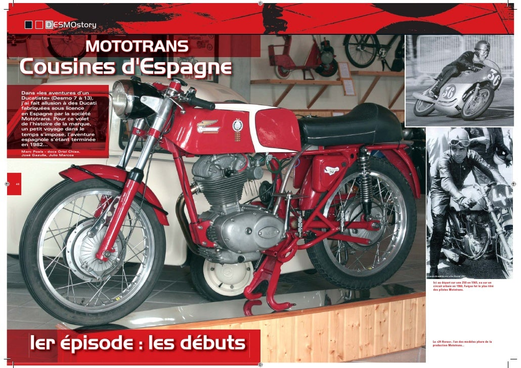 D ESMOstory                                        MOTOTRANS      Cousines d'Espagne      Dans «les aventures d'un      Du...