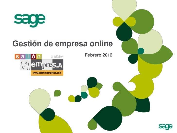 Gestión de empresa online                  Febrero 2012