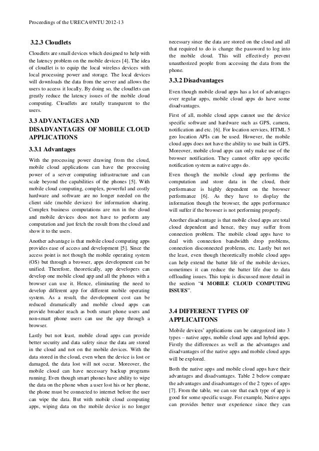 Research papers on mobile
