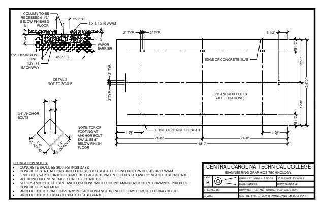 Anchor bolt plan section layout1 for Wharton cad