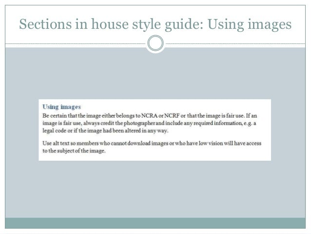 house style guide Modern House