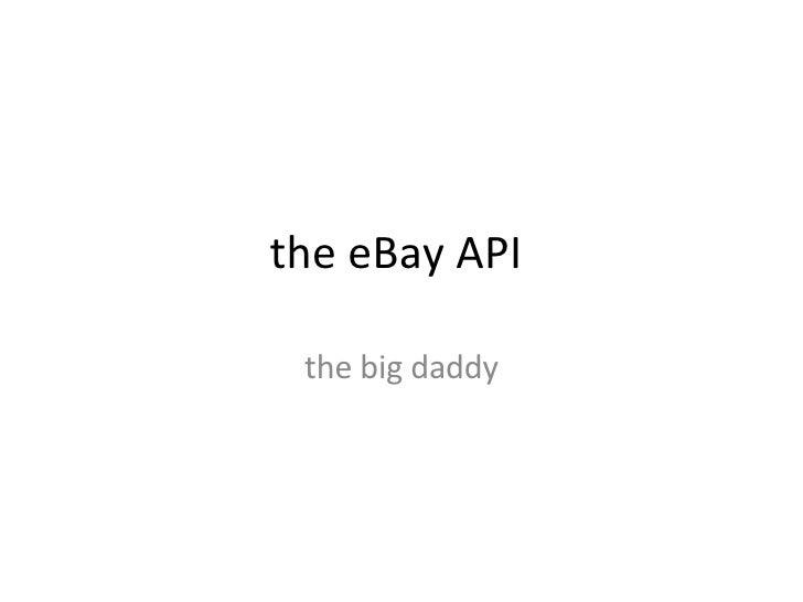 Developing Profitable APIs - Cian Weersinghe - EBay