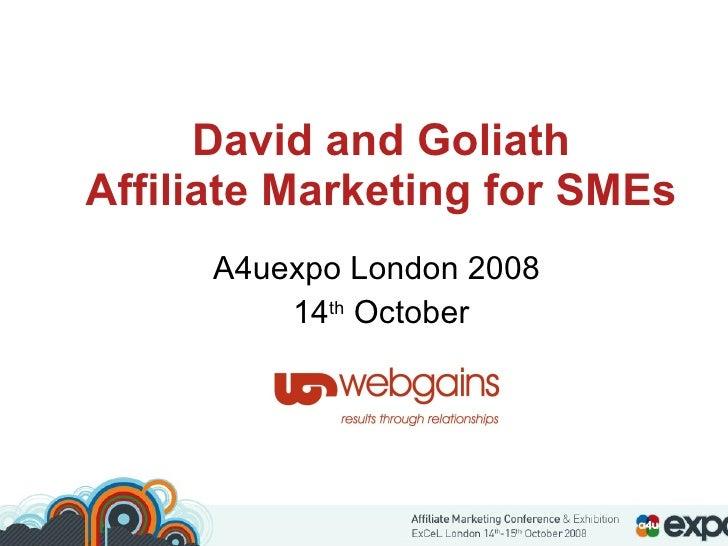 David Vs Goliath - Robert Glasgow - webgains