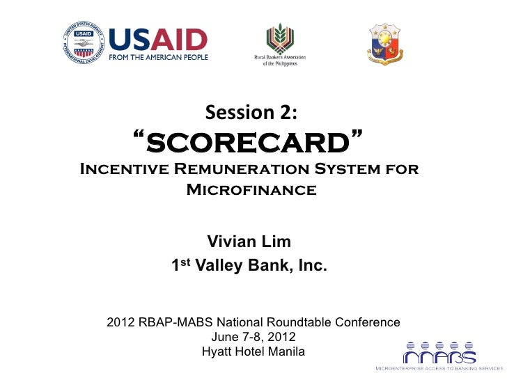 "Session 2:                                                 ""SCORECARD""       Incentive Remuneration System for        ..."