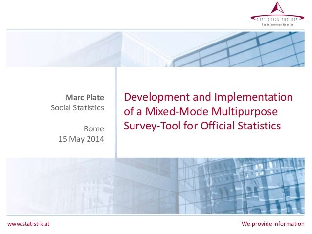 M. Plate - Development and Implementation of a Mixed-Mode Multipurpose Survey-Tool for Official Statistics