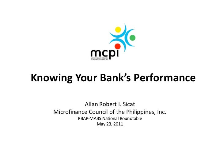 NRT 2011: Knowing Your Bank's Performance