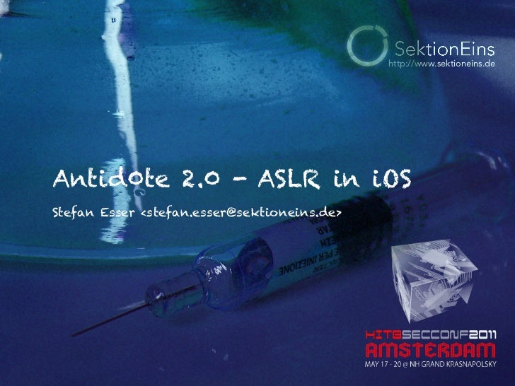 Antid0te 2.0 – ASLR in iOS