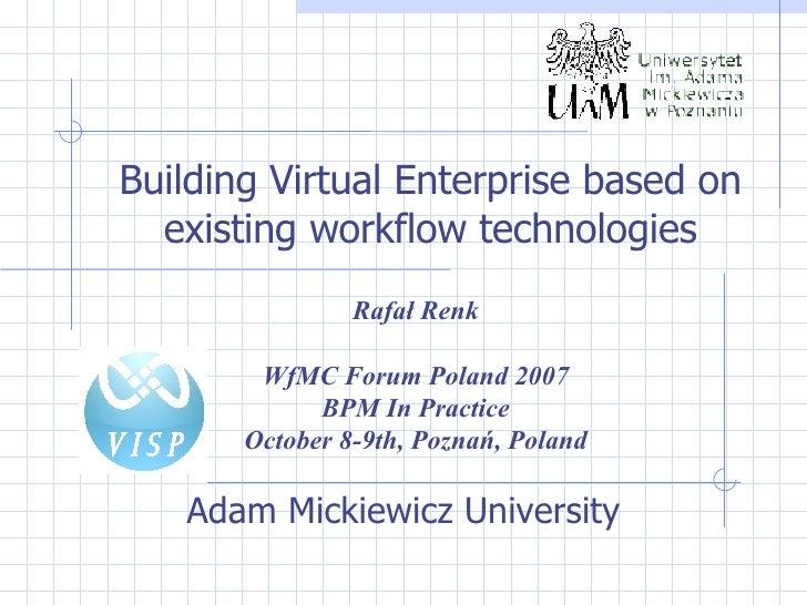 D2 5   Building Virtual Enterprise Based On Existing Workflow Technologies