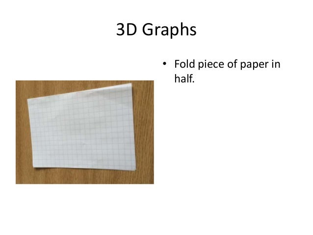 3D Graphs • Fold piece of paper in half.