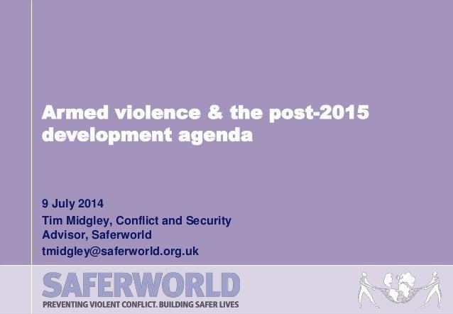 Tim Midgley, Saferworld | UK