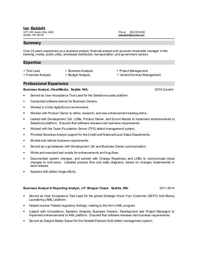 ian babbitt resume 2015 07 30