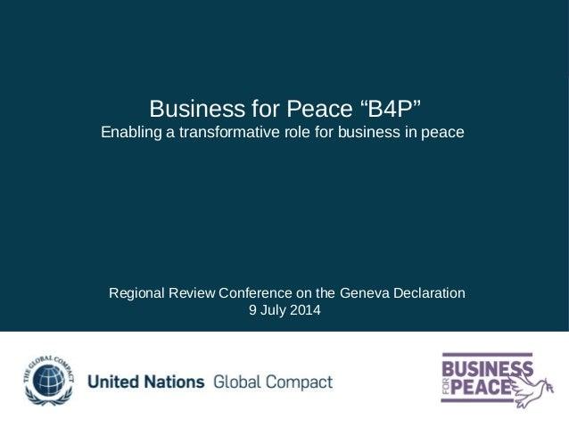 Adrienne Gardaz, Business for Peace, UN Global Compact
