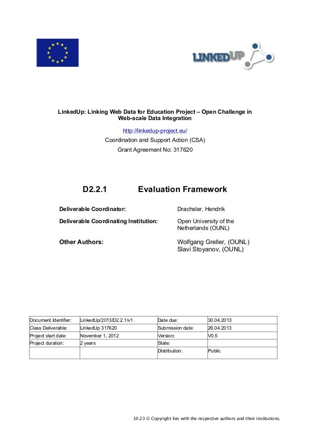 D2.2.1 Evaluation Framework
